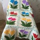 Granny Square Crochet Tulip Blanket
