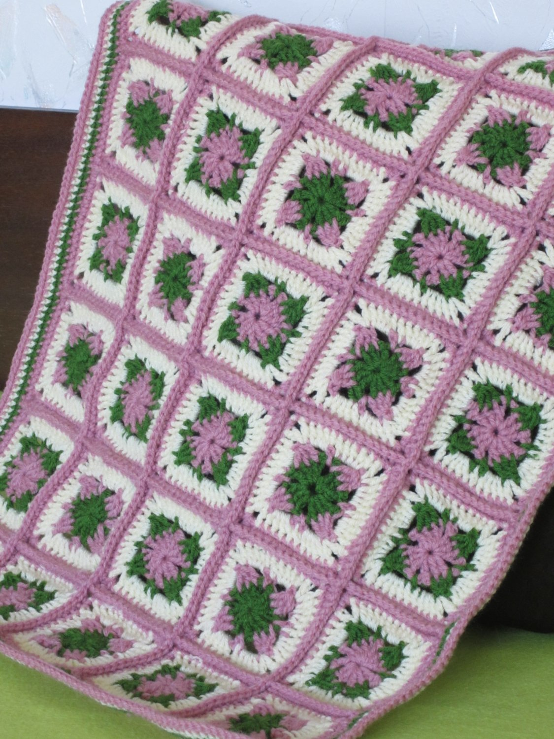 Granny Square blanket for American girl doll and Waldorf dolls