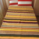 Hand Knitted Stripes Afghan