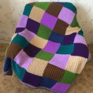 Hand Knitted Squares Afghan
