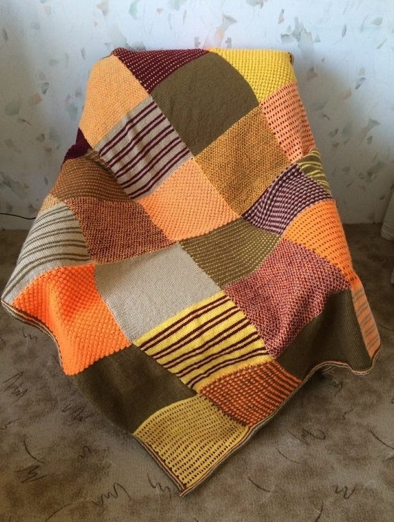 Hand Knitted Afghan