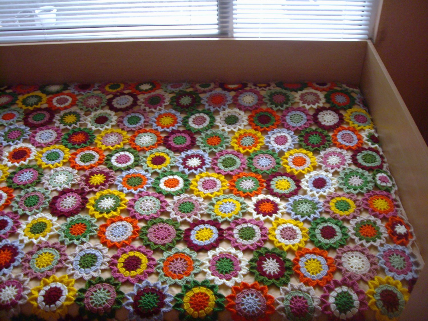 Flowers Crochet Blanket