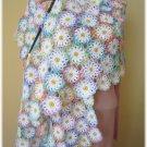 Daisies crochet shawl Lace crochet wrap