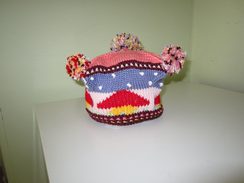 Knitted Children beret -  hat