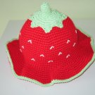 Crocher Strawberry Hat