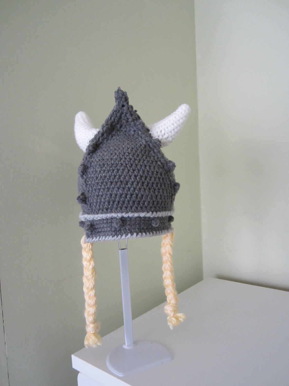 Crochet Viking hat
