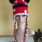 Crochet earflap Mickey Mouse  hat