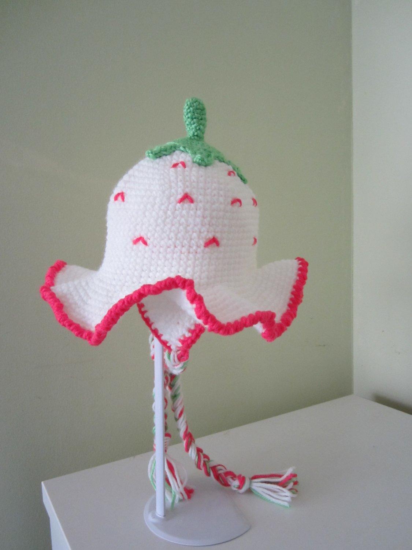 Crocher Girl Earflap Berry Hat