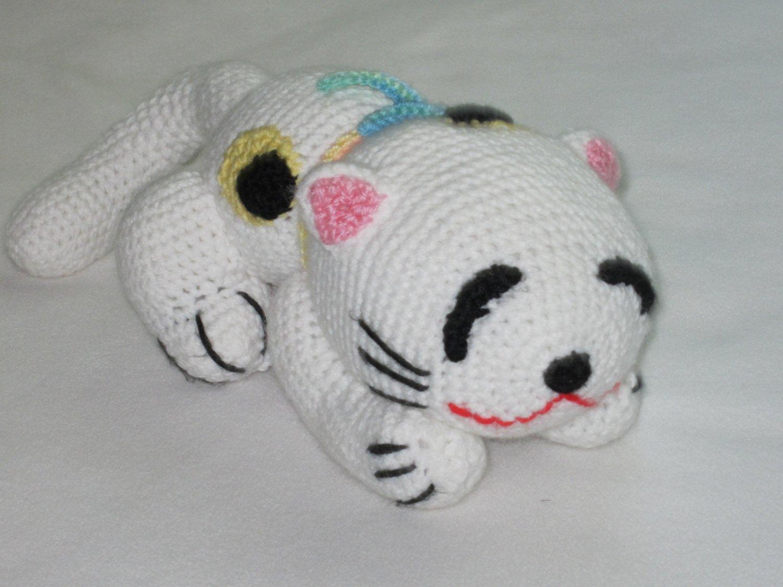 Crochet .Japanese Cat