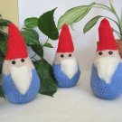 Knitted gnomes