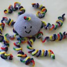 Crochet toy animal stuffed soft Large Rainbow Octopus