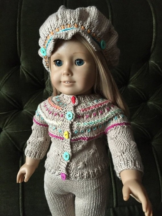 Knitted set for American girl doll