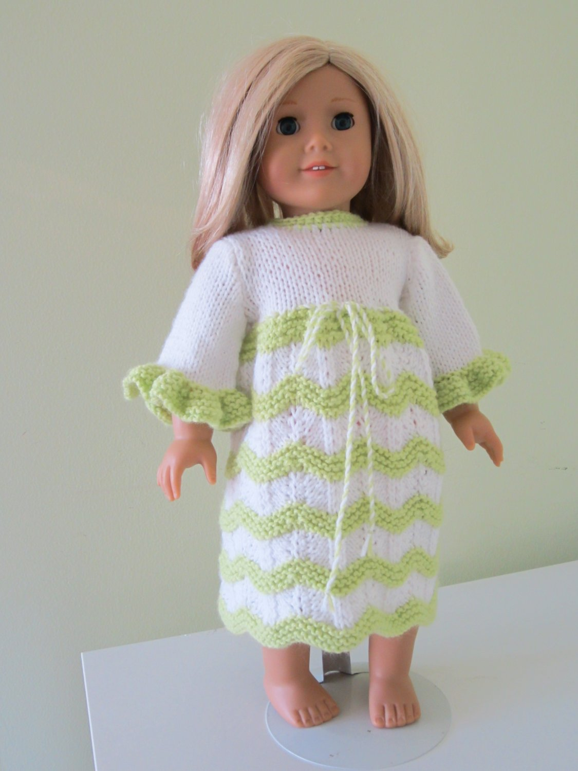 Knitted American girl doll dress