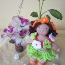 Crochet hula set for 8 inches  Waldorf and similar sizes dolls