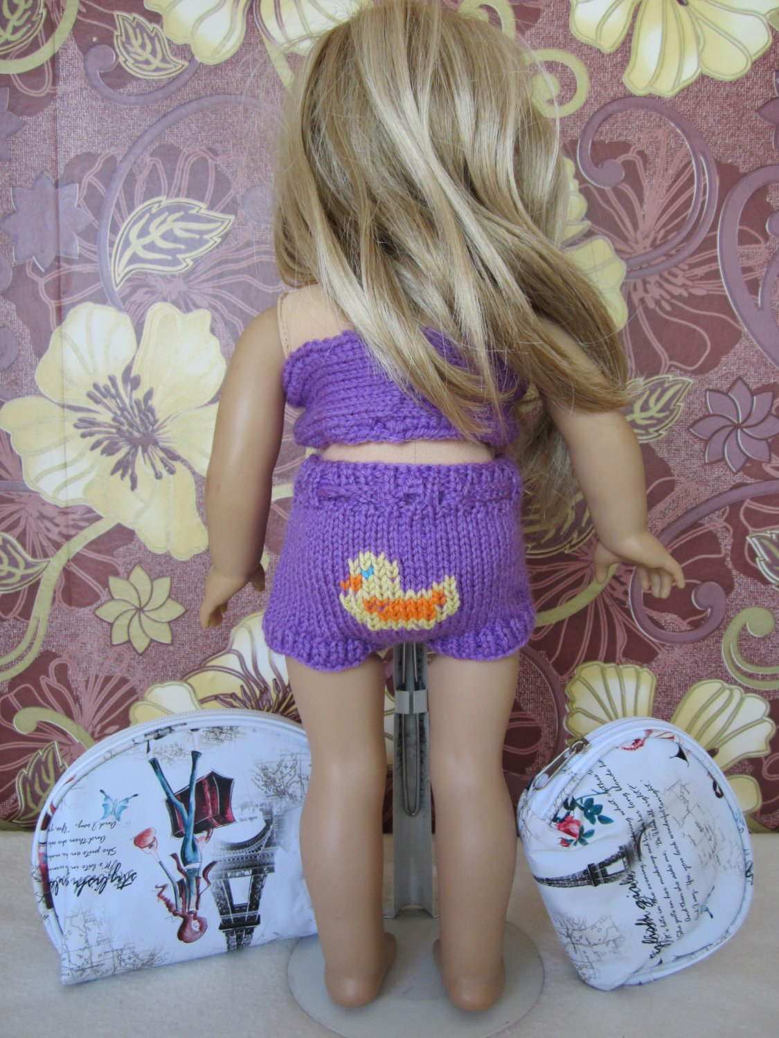 Knitted bathing suit for  American girl dolls