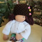 Crochet hat for 16 inches  Waldorf doll and American girl doll