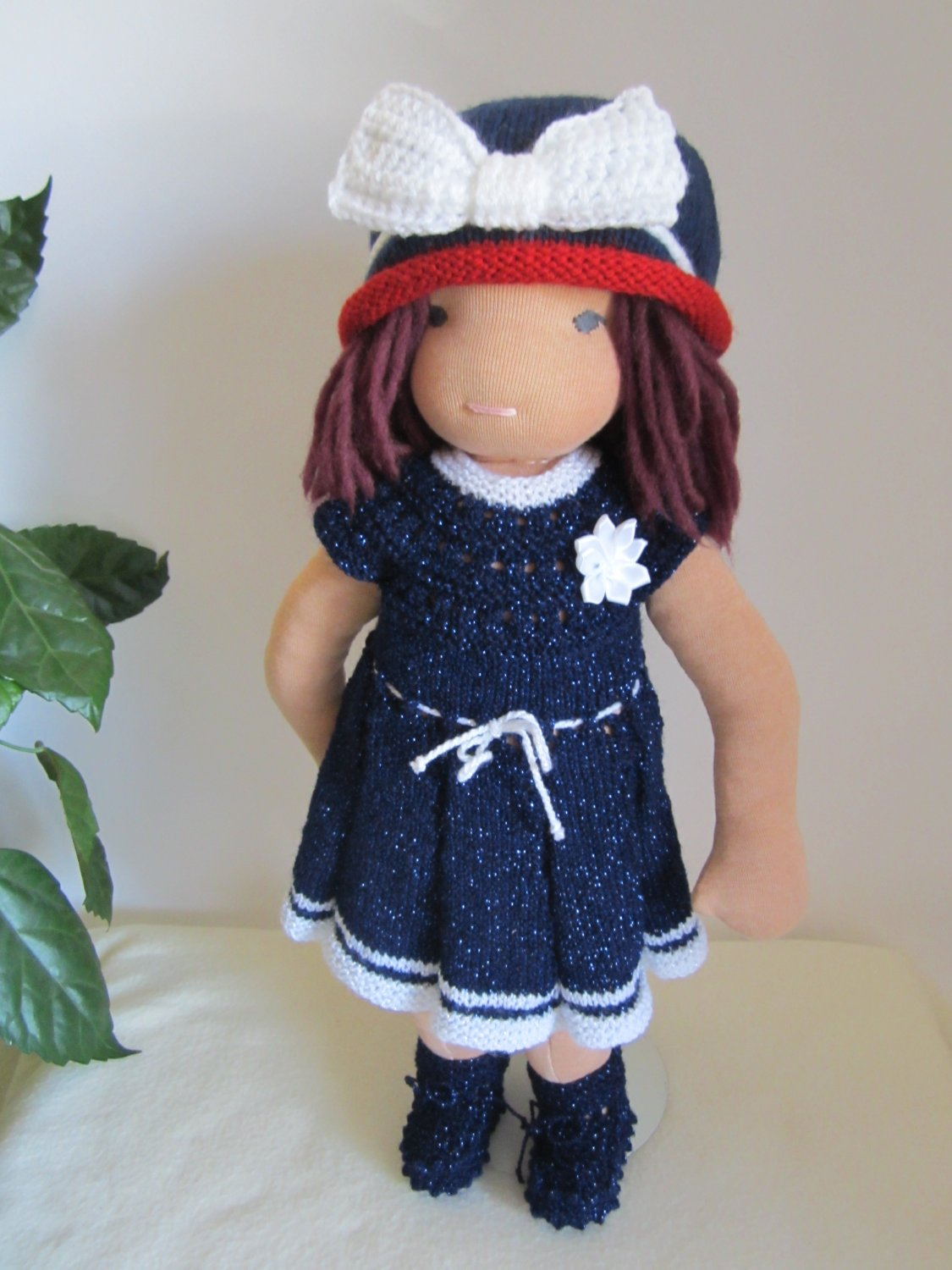 Knitted set for 16 inches Waldorf and similar sizes dolls