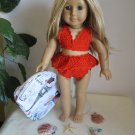 Crochet bathing suit for  American girl dolls