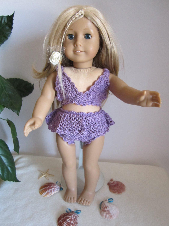Crochet bathing suit  American girl dolls