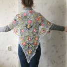Irish crochet shawl.... lace wrap...