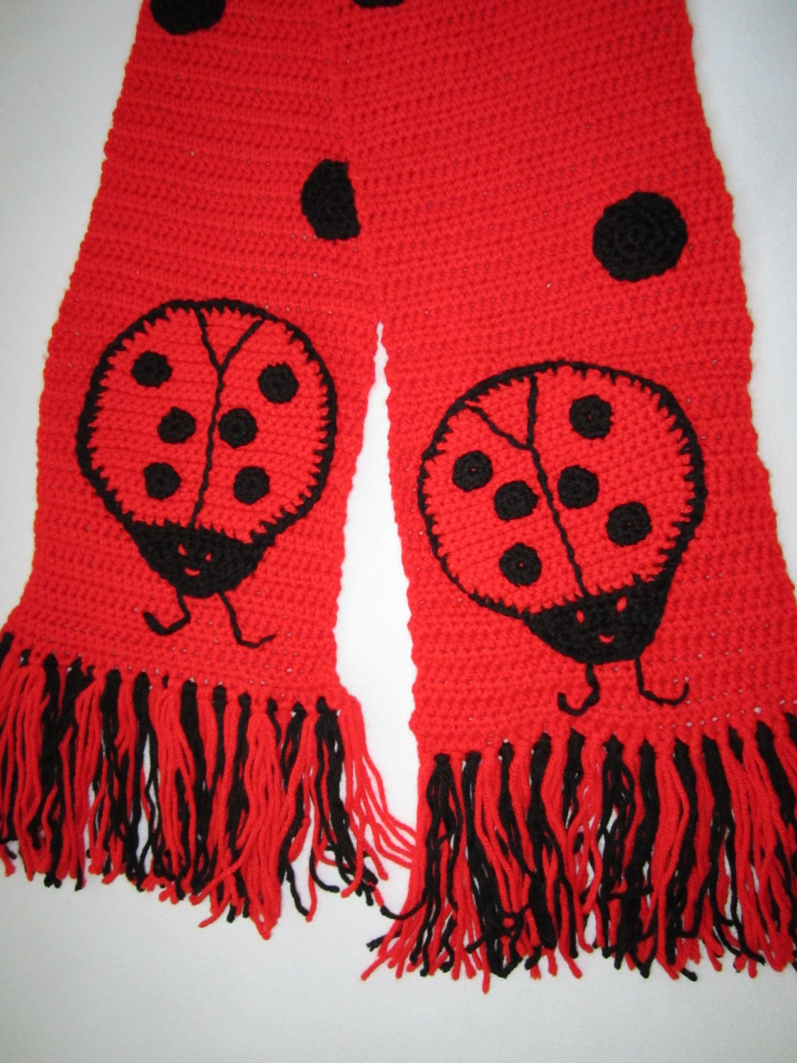 Scarf with lady bugs