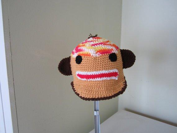 Crochet monkey hat