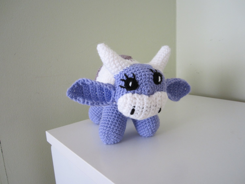Crochet toy - cow Milka