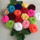 Set of 5 crochet roses