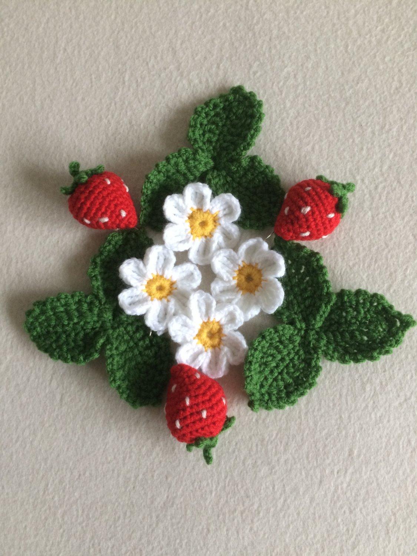 Crochet Strawberry set