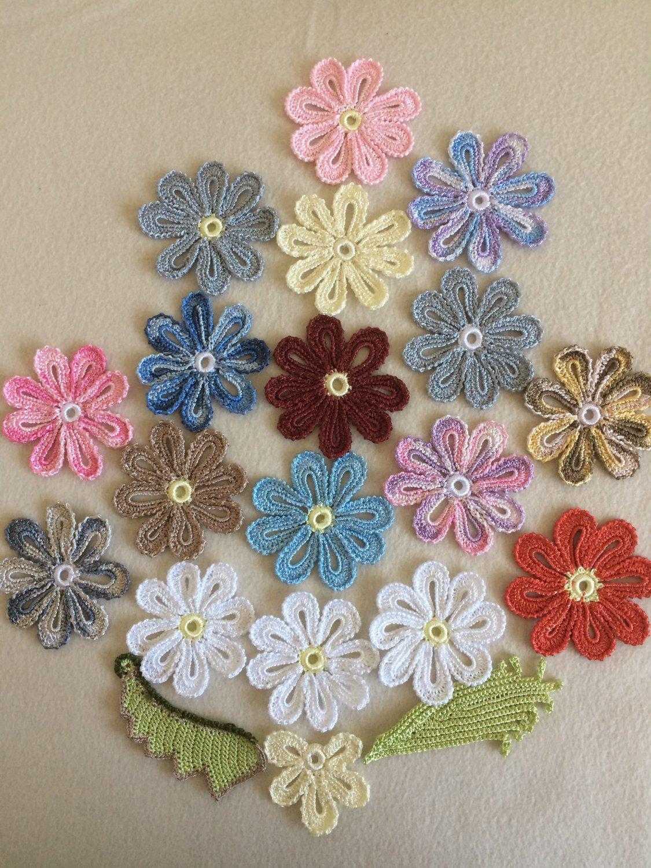 Set of 3 daisy flowers