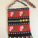 Traditional Native Crochet Roses Pouch