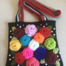 Double-sided crochet handbag ...Free form...Free style