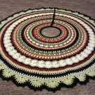 Mandala Crochet Christmas tree skirt