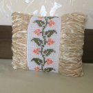 Vintage Curly Satin Pillow case with crochet lace