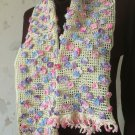 Little flowers crochet scarf