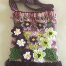 Free Form Art Pouch... 3D Irish Crochet Bag...Magnolia Bag