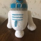 Crochet toy R2D2... stuffed soft toy...Star wars toy