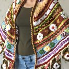 Irish Crochet with 3D Flowers Shawl...Freeform Shawl