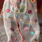 Summer crochet shawl ... Flowers crochet wrap ...