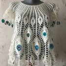 Peacock crochet top