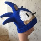 Crochet Sonic the Hedgehog Hat