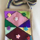 Knitted art purse...Free form bag