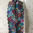 Crochet African Flower Scarf