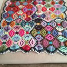Hand Knitted Thtow.... Afghan...Colorful Knitted Blanket...Baby Blanket