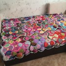 Hand Knitted Thtow.... Afghan...Colorful Knitted Blanket