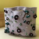 Crochet bag Beaded purse Hand embroidered tote