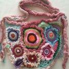 Free Form Art Pouch... 3D Boho Style Crossbody Crochet Bag