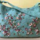 Cherry blossom crochet bag