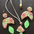 Floral polymer clay set