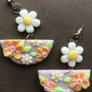 Daisy polymer clay earrings